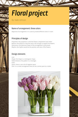 Floral project