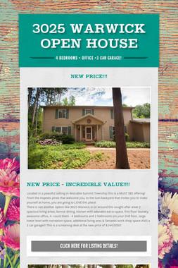 3025 Warwick  OPEN HOUSE