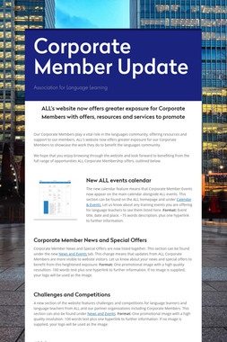 Corporate Member Update