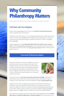 Why Community Philanthropy Matters