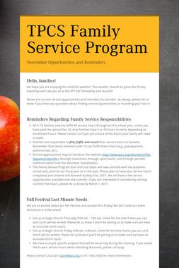 TPCS Family Service Program