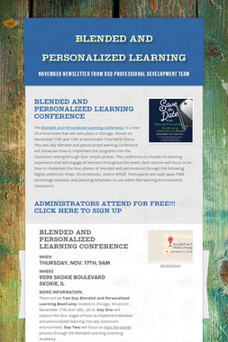 Blended and Personalized Learning