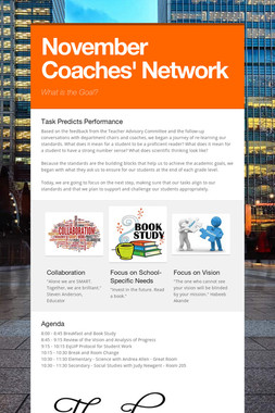 November Coaches' Network