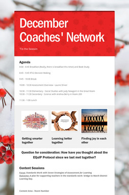 December Coaches' Network