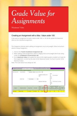 Grade Value for Assignments