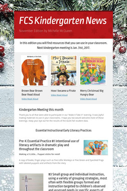 FCS Kindergarten News