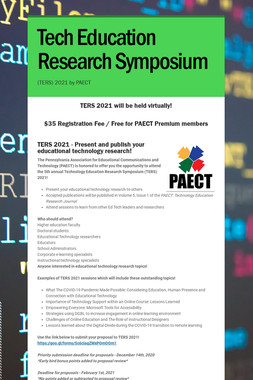 Tech Education Research Symposium