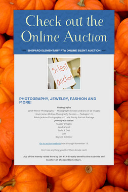 Check out the Online Auction