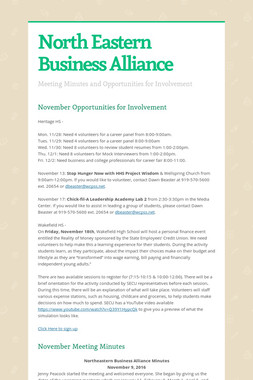 North Eastern Business Alliance