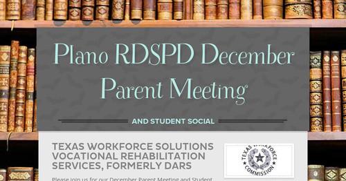 Plano Rdspd December Parent Meeting Smore Newsletters