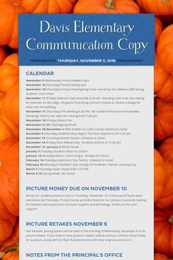 Davis Elementary Communication Copy
