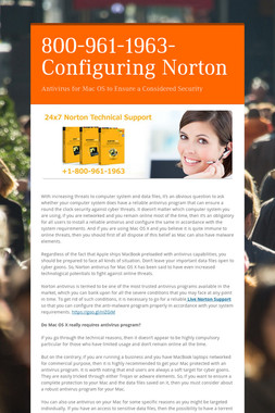 800-961-1963-Configuring Norton