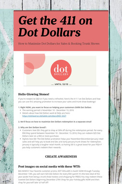 Get the 411 on Dot Dollars