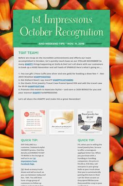 1st Impressions October Recognition