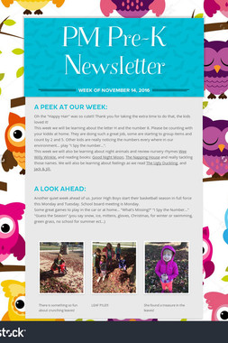 PM  Pre-K Newsletter