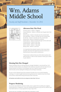 Wm. Adams Middle School