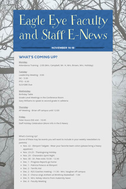 Eagle Eye Faculty and Staff E-News