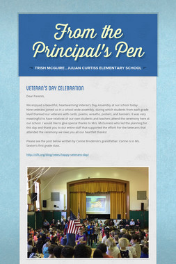 From the Principal's Pen