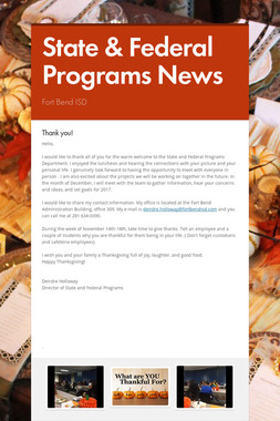 State & Federal Programs News