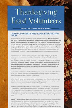 Thanksgiving Feast Volunteers