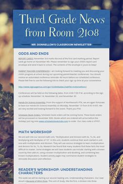 Third Grade News from Room 2108