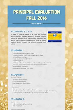 Principal Evaluation  Fall 2016