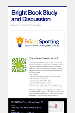 Bright Book Study and Discussion