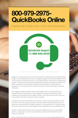 800-979-2975-QuickBooks Online