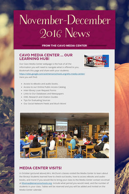 November-December 2016 News