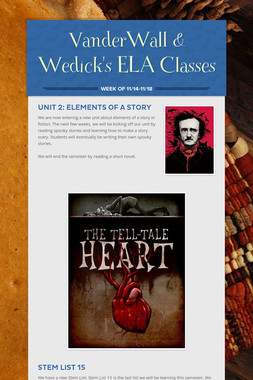 VanderWall & Wedick's ELA Classes