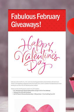 Fabulous February Giveaways!