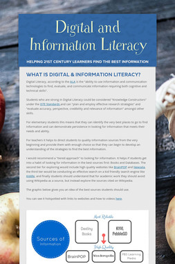 Digital and Information Literacy