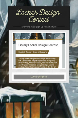 ​Locker​ ​Design ​Contest