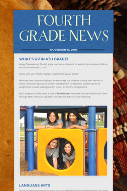 FOURTH GRADE NEWS