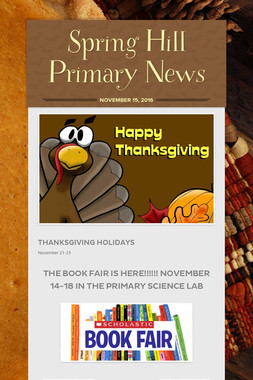 Spring Hill Primary News