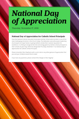 National Day of Appreciation
