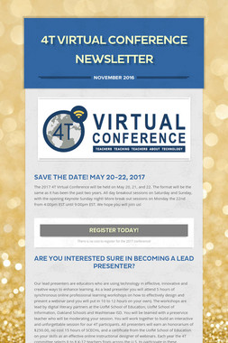 4T Virtual Conference Newsletter