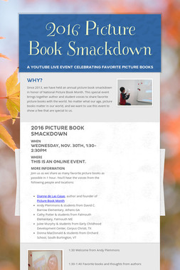 2016 Picture Book Smackdown