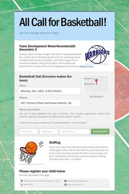 All Call for Basketball!