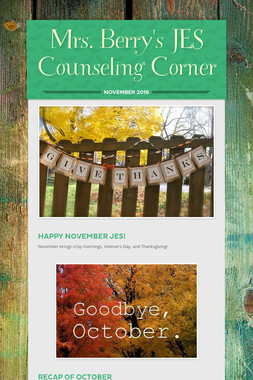 Mrs. Berry's JES Counseling Corner