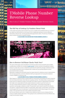 TMobile Phone Number Reverse Lookup