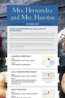 Mrs. Hernandez and Mrs. Hairston