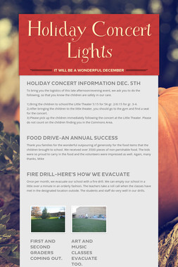 Holiday Concert Lights