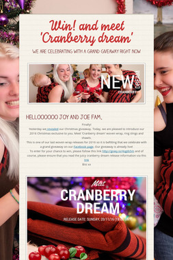 Win! and meet 'Cranberry dream'