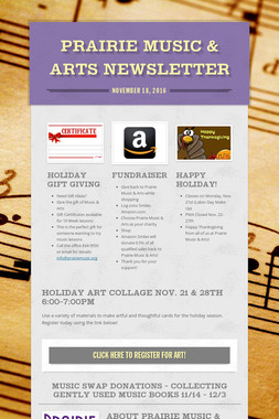 Prairie Music & Arts Newsletter