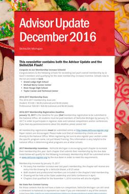 Advisor Update December 2016