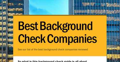 Best Background Check Companies | Smore Newsletters for Business