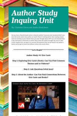 Author Study Inquiry Unit