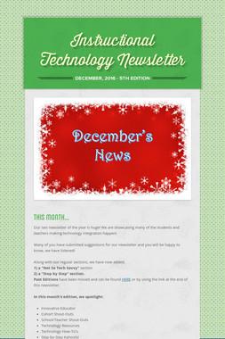 Instructional Technology Newsletter