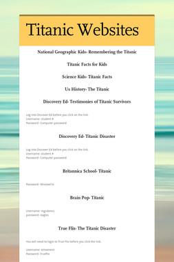 Titanic Websites